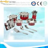 Elegant 12pcs cookware set factory/ cooking pot manufacture/Top grade stainless steel ware 12pcs cookware set