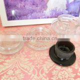 clear glass material lid for wide mouth jar