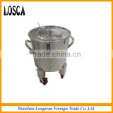 movable stainless steel milk bucket/pail