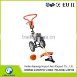 52cc gaoline brush cutter with wheels and hand grass cutter and grass trimmer with hand push handle