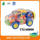 big plastic towing vehicle building block(140pcs) Intelligent Toys