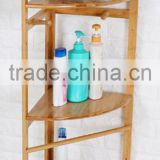 3-Tier Corner Bamboo Bathroom Storage Shelf