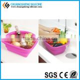 Food grade silicone folding case, silicone bowl, table foldable silicone box