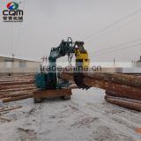 Hydraulic rotating log grapple