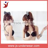 Sexi young girls New design sexy bra, mature ladies back belt less bra, woman lingerie nylon sexy black bra,back transparent bra