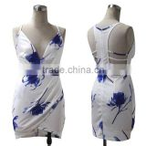 white prints animal prints sexy club dress party dress beach dress club wear bandage dress mesh dress wholesaler