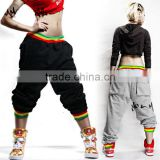 Custom Fashion Hip Hop Harem Baggy Dance Sweatpants, 100% Cotton Unisex Wholesale Sweatpants