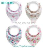China Manufacturer Wholesale Private Label Snap cotton fleece baby bandana drool bibs