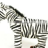 wild animal Zebra plush and plastic toy customized