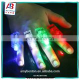 Ring LED Flashing Light finger Lamp 4 colors Mini torch lamp