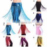 INQUIRY ABOUT Bestdance Belly Dance Flashy Tassel skirt belts Lunga Frangia Nappa Gon na sciarpa cintura paillettes lucenti