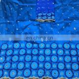 African Dubai Nigerian Raw silk Embroidery George wrapper with Blouse Manufacturer supplier