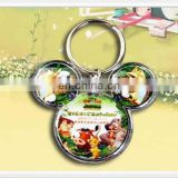 Acrylic keychain with custom AD and Mickey Mouse shape