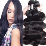 Brazilian Natural Black Virgin Human Aligned Weave Hair Weave 10inch Pre-bonded