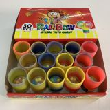Rainbow Spring Ring Toys with Fruits Compressed Candy