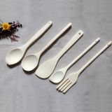 5 Pieces Wooden Cutlery for Family and Restaurant,Contains Fork ,Spoon and Food turner