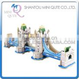 Mini Qute 3D Wooden Puzzle London Tower Bridge world architecture famous building Adult kids model educational toy gift NO.MJ401