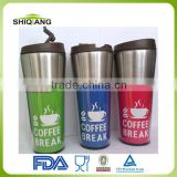 New product 450ml double wall stainless steel office coffee mug with leakproof lid made in China