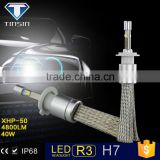 New R3 automotive 80W 9600LM KIT bulbs h7 led headlights conversion kit with rapid cooling belt