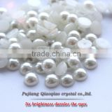 2016 nail art paste Diy accessories 2 3 4 6 8 10 12mm half round beige white flatback beauty loose pearls garment accessories                                                                         Quality Choice