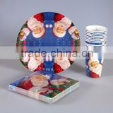 Christmas Design Disposable party tableware for paper napkin paper plate paper cup