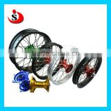 Motorcycle Wide Wheels & Supermoto Steel /Aluminum Alloy Wheel / Rim With CNC Hubs