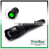 (120233) Rechargeable aluminum alloy long distance led torch zoom flashlight