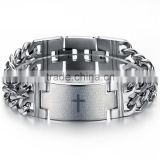 stainless steel mens bracelet lead and nickel free