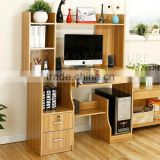 Hot selling new fashion design computer desk with bookshelf/ study table/ gaming desk (SZ-FCB393)