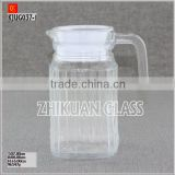 Glass Jug for beer with handle Juice Glass Jug set with lid