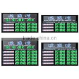 Height 3 inch led currency exchange rate display in green for financial institution
