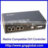 On-line dmx512 pixel led controller led DVI master controller,PC controllable,Madrix compatible