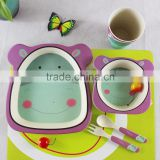 bamboo fiber children tableware,Baby Feeding Bowl ,Kids dinner set 2016                                                                                                         Supplier's Choice