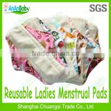 2014 Hot Sell New Products Bamboo Reusable Cloth Sanitary Napkin