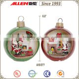 "6.0""tabletop wholesale Christmas ball, polyresin Christmas decoration balls, big Christmas balls for sale"