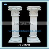 Cheap Handmade White Marble Interior Decoration Pillar For Sale