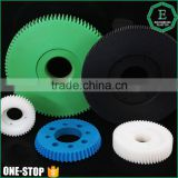 Hobbing processing cnc machining plastic material colored nylon spur gear for various machines                                                                         Quality Choice