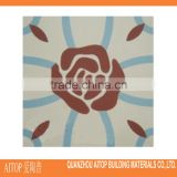 Red flower cement printing floor tile orient texture cement material veneer home decorative 200x200mm wholesale china