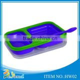 High quality kids and adults leakproof eco-friendly microwave silicone japanese lunch box