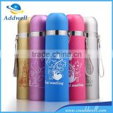 500ml cartoon bullet head shape travel sport stainless steel vacuum flask