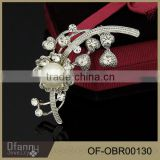 Fashion Costume Jewelry Pearl Brooch Cheap Pearl Flower Pearl Brooch Pin for Wedding Invitation Card