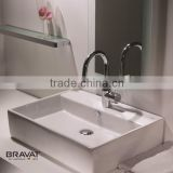 sanitary ware products ceramic top counter basin C22137W-1