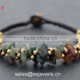 Hot Selling India Agate Brass Bell Vintage Jewelry Wholesale High Quality Full Handmade Bracelets
