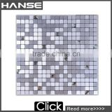 LP132 300X300MM colored crystal glass mosaic tile wall art for kitchen