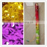 party popper/electric confetti paper with Metallic foil paper/wedding /party /christmas/colorful paper/confett cannon