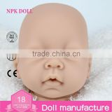22inch silicon vinyl doll kits DIY reborn baby doll parts wholesale reborn baby doll mould Head Arms legs