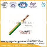 450/750v good quality bare copper conductor pvc coated electric wire
