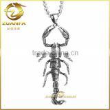 lively king scorpion animal hiphop pendant black 316L stainless steel scorpion steel necklace