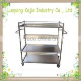 Customized high quality metal book cart book trolley cart used school furniture library furniture