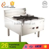 single head and single stock pot hotel restaurent gas stainless steel induction wok cooker